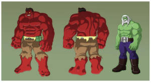 HAS: GAMMA RED HULK Turns and MAESTRO by Jerome-K-Moore