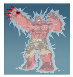 HAS: GAMMA RED HULK - FROZEN by Jerome-K-Moore