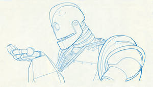 IRON GIANT holding for Hogarth by Jerome-K-Moore