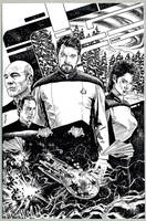 STAR TREK: THE NEXT GENERATION: THIN ICE by Jerome-K-Moore