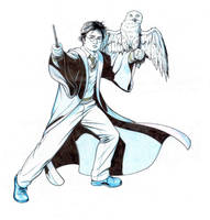 HARRY POTTER and HEDWIG by Jerome-K-Moore