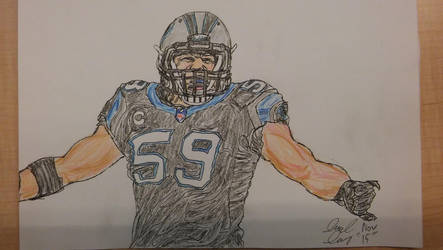 Luke Kuechly by ebrolic