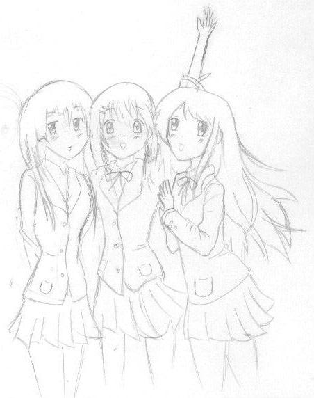 Step By Step How To Draw Three Best Friends Free Download Oasis Dl Co