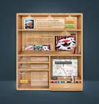 wooden shelf by eLdIn94