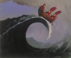 holy tsunami by HOMELYVILLAIN