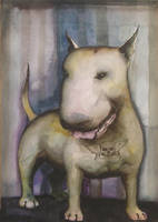 english bull terrier puppy by HOMELYVILLAIN