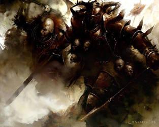 Warriors Of Khorne by coskoniotis