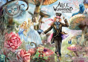 Alice in Wonderland by JUN-KAMIJO