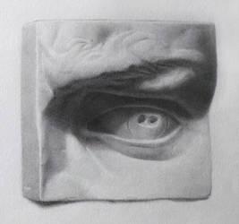 Cast Drawing - Eye by Andantonius