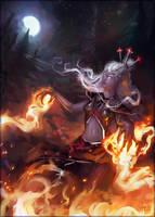 Dark Elf Sorceress by Andantonius
