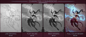 Character Commissions by Andantonius