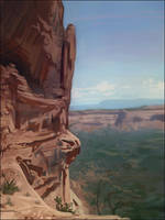 Desert Mountains by Andantonius