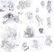 Sketch dump by MelNocturne