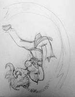 Mash does a flash kick (sketch) by SnD-Frostey