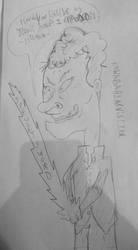 Beavis as Kuwabara (sketch) by SnD-Frostey