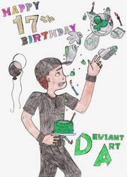 Happy 17th Birthday DeviantART! by jamesgannon