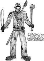 Jason Voorhees: Break Time Sketch by jamesgannon