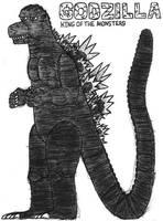 Godzilla- Break Time Sketch by jamesgannon