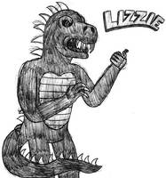 Lizzie the Dinosaur- Break Time Sketch by jamesgannon