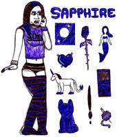 Sapphire- Symbols by jamesgannon