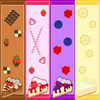Cheesecake Bookmarks by MidniteHearts