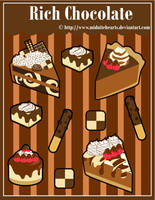 Rich Chocolate Sticker Designs by MidniteHearts