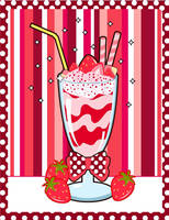 Strawberry Milkshake by MidniteHearts