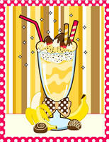 Banana Creme Milkshake by MidniteHearts