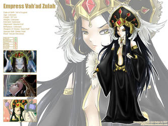 Zulah character sheet by Exarrdian