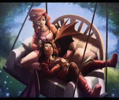 Commission - Afternoon with you by Exarrdian
