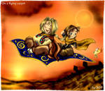On a flying carpet by Exarrdian