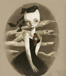 gothic girl by tonysandoval