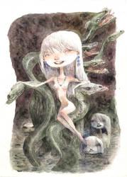 snake throne by tonysandoval