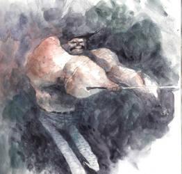 sword guy by tonysandoval