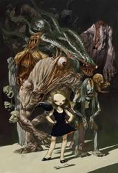 the black dress girl by tonysandoval