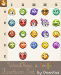 colorful Emoticon Set by Gomotes