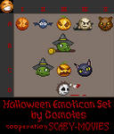 Halloween Emoticon Set by Gomotes