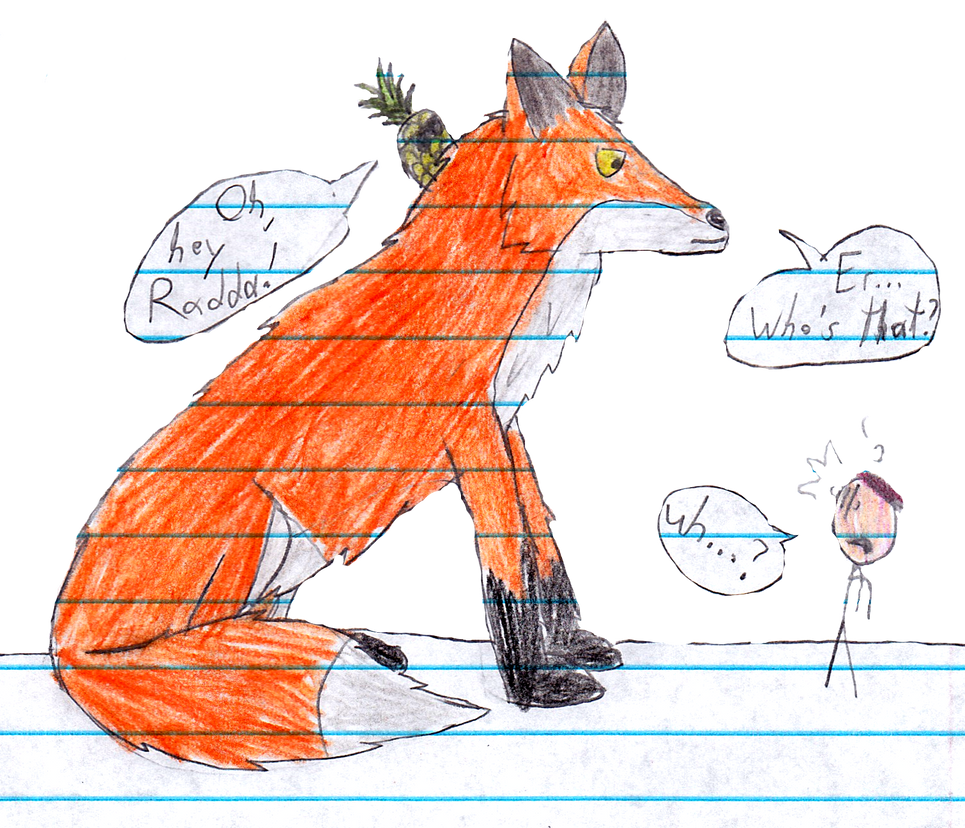meeting a giant fox by raddaman8000 on deviantart