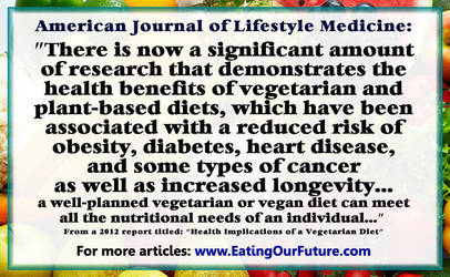 Vegan Vegetarian Health Benefits Science Reports by eatingourfuture