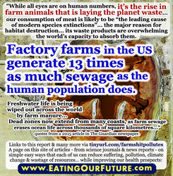 Mass Extinction by Pollution of Animal Agriculture by eatingourfuture