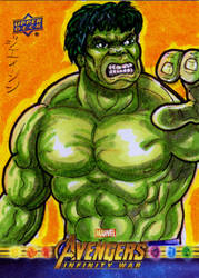 Hulk for Upper Deck/Marvel! by RazeComix