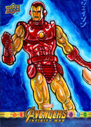 Iron Man for Upper Deck/Marvel! by RazeComix