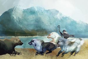 Rite of the Hunt: The Great Bear Showdown by Kieath