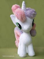 New Sweetie Belle inspired plush by mmmgaleryjka