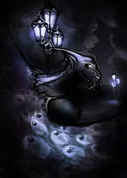 Dark gargoyle by Zinita
