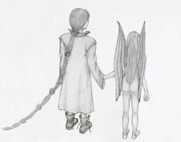 Chaiel and Medur - sketch by czmadzia