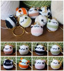 Chubby Panda Keychains by pocket-sushi
