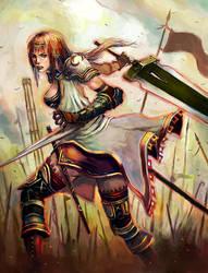 GIrl warrior by longai