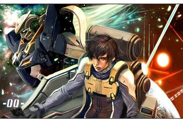 Gundam 00 by longai