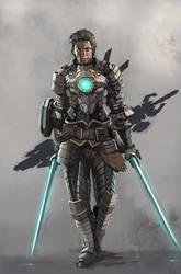 Cyber knight by longai